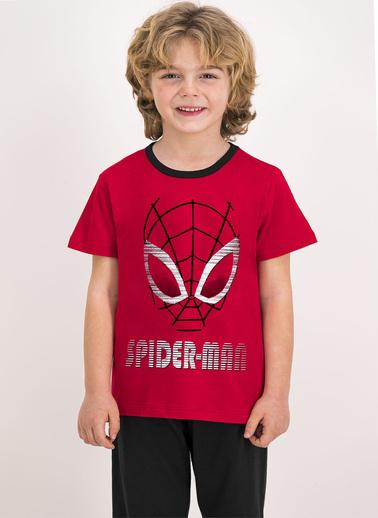 Spider-Man Spider Man Lisanslı Duman Mavisi Erkek Çocuk T-Shirt Bordo